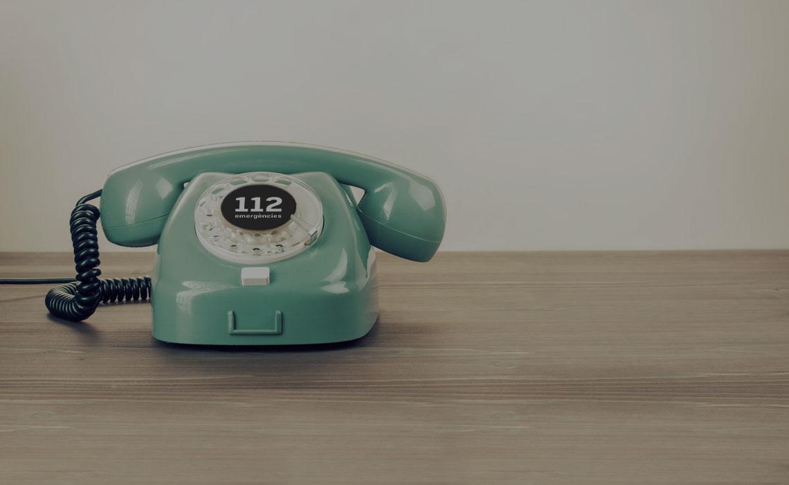 Telèfon d'emergències 112