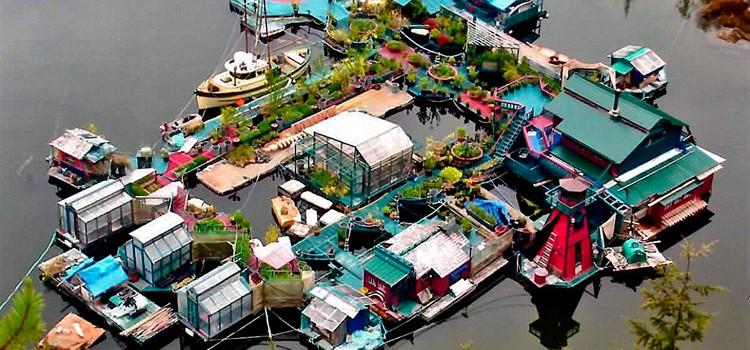 Freedom Cove, una casa sustentable i flotant