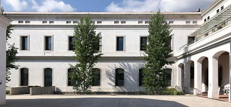 Caserna de la Guàrdia Urbana en l'antic Institut Mental de la Santa Creu i Sant Pau a Nou Barris